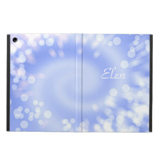 Bokeh blue abstract texture. Name. iPad Air Cover