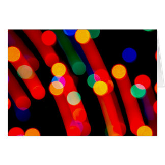 Bokeh Christmas Lights With Light Trails Card