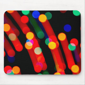 Bokeh Christmas Lights With Light Trails Mouse Pad