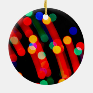 Bokeh Christmas Lights With Light Trails Ornament