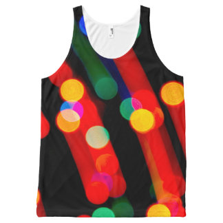 Bokeh Christmas Lights With Light Trails Tank Top