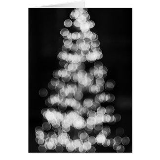 Bokeh Christmas Tree Card