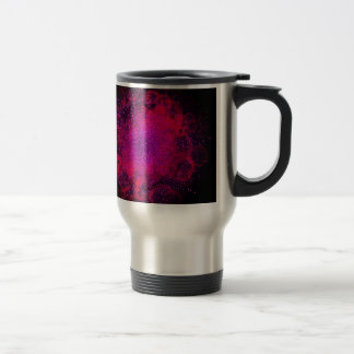Bokeh Explosion. Сolorful Abstract Background. Travel Mug