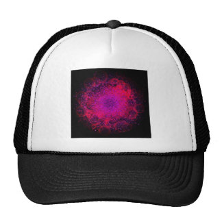 Bokeh Explosion. Сolorful Abstract Background. Trucker Hat