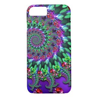 Bokeh Fractal Purple Turquoise iPhone 8/7 Case