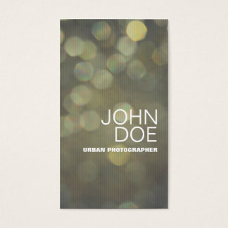 Bokeh Lights Business Card