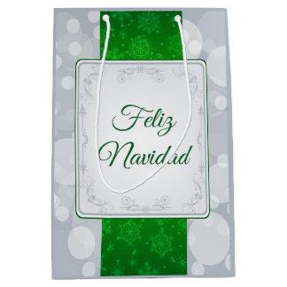 Bokeh Navidad Medium Gift Bag