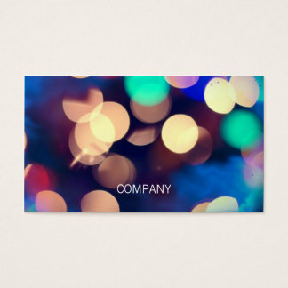 Bokeh Photo Horizontal Business Cards