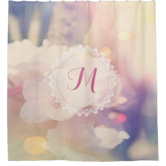 Bokeh Pink Yellow Fine Floral Background