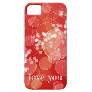 Bokeh style red gradient texture iPhone 5 cover