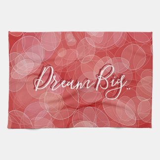 Bokeh style red gradient texture. text. kitchen towel