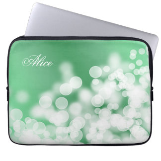 bokeh style texture. Name. Laptop Sleeve