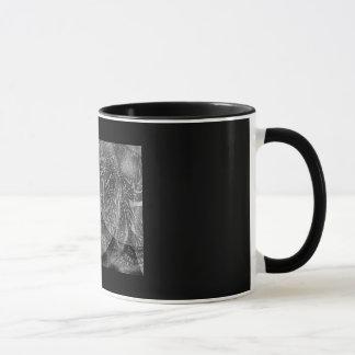 """""""BOKHARI"""" 11 oz. BLACK RINGER COFFEE MUG"""