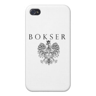 Bokser Polish Eagle Black / White Cover For iPhone 4