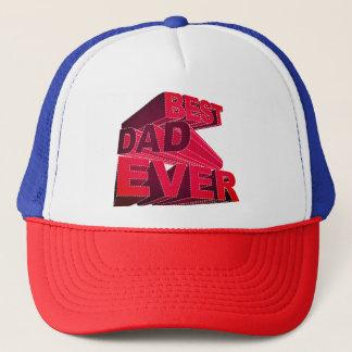 Bold 3D Best Dad Ever Trucker Hat