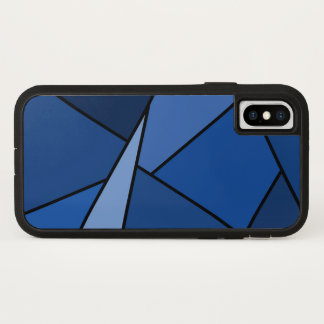 Bold Abstract Blue Geometric Shapes Case-Mate iPhone Case