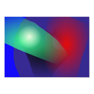 "Bold Abstract 5"" X 7"" Invitation Card"