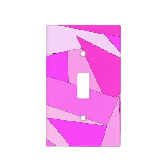 Bold Abstract Pink Graphic Light Switch Cover