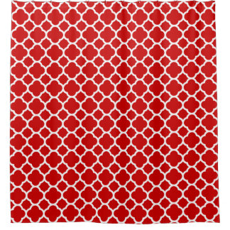 Bold and Beautiful Red Moroccan Quatrefoil Pattern