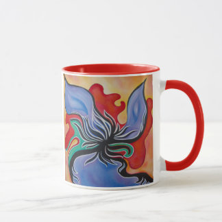Bold and Bright Abstract Flower Mug