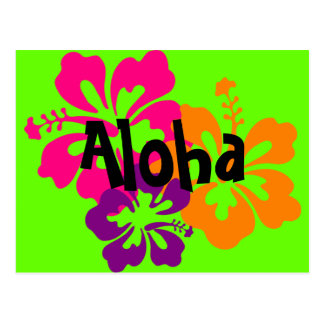 Bold and Bright Hawaiian Flowers Postcard