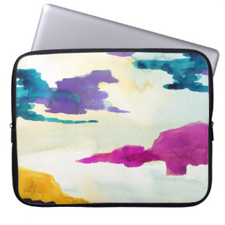 Bold and Colourful Watercolour Laptop Sleeve