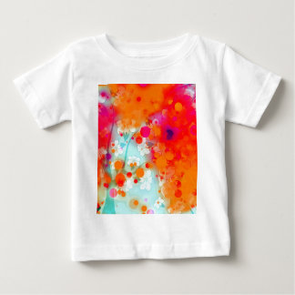 Bold and Cool Orange Teal Dreamy Floral Abstract Baby T-Shirt