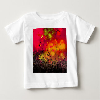 Bold and Cool Red Green Dreamy Abstract Baby T-Shirt