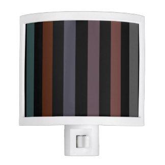 Bold and Dark Modern Stripes Night Lite
