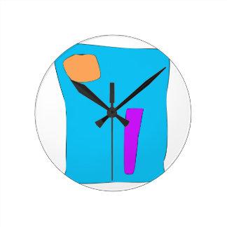 Bold and Decisive Round Clock