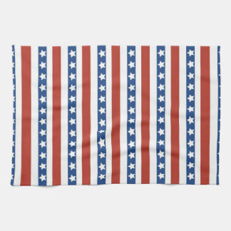 Bold and Fun 4th of July Stars and Stripes Pattern Kitchen Towel