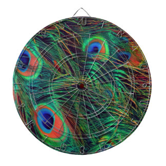Bold and Rich Peacock Dartboard