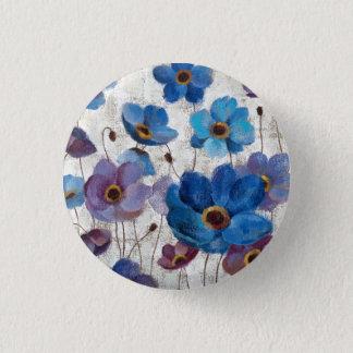 Bold Anemones 1 Inch Round Button