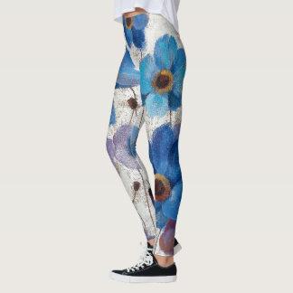 Bold Anemones Leggings
