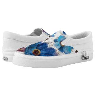 Bold Anemones Slip-On Sneakers