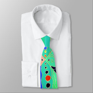 Bold artsy colourful modern abstract pattern tie