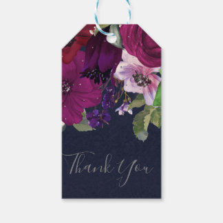 Bold Berry Fuchsia  Floral Bouquet Chic Favor Gift Tags