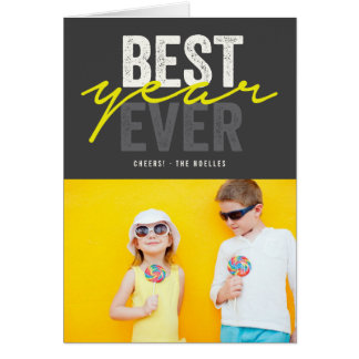Bold Best Year Ever Holiday New Year Photo Card