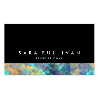 Bold Black Abstract Multi Color Mix BusinessCard Business Card Templates
