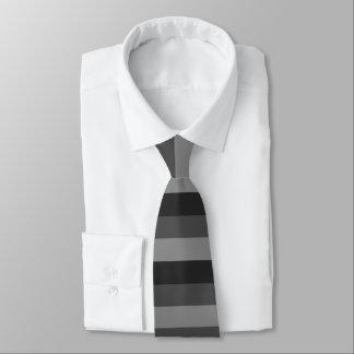 bold black and gray stripes tie