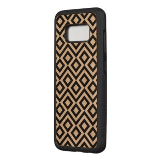 Bold Black and Transparent Meander Carved Samsung Galaxy S8 Case