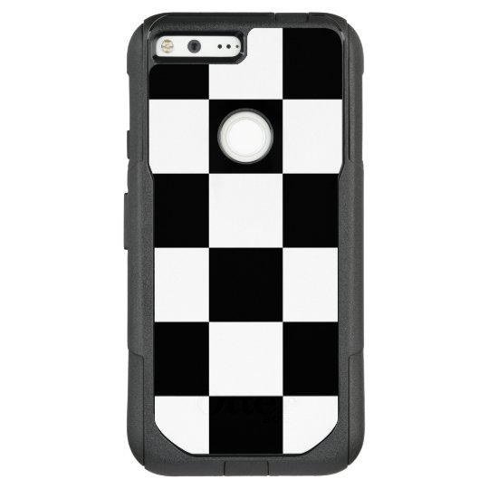 Bold Black and White Chequered Pattern OtterBox Commuter Google Pixel XL Case
