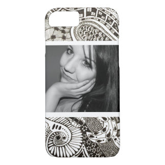 Bold Black and White Photo Zen Doodles iPhone 7 Case