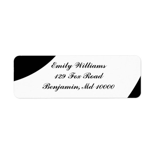 Bold Black and White Return Address Label