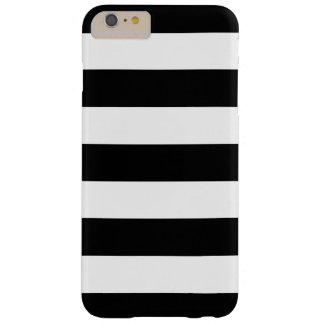 Bold Black and White Stripes Pattern Barely There iPhone 6 Plus Case