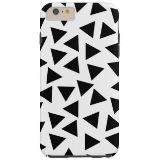Bold Black and White Triangle Print Tough iPhone 6 Plus Case