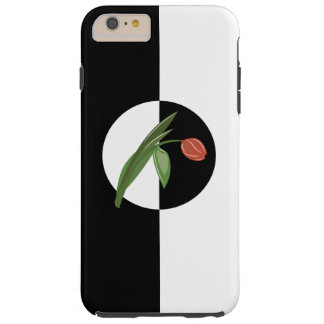 Bold Black and White with Tulip Tough iPhone 6 Plus Case