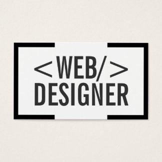 Bold Black Border Web Design Business Card