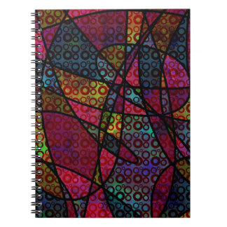 Bold Black Lines & Multicolored, Abstract Textures Notebooks