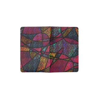 Bold Black Lines & Multicolored, Abstract Textures Pocket Moleskine Notebook